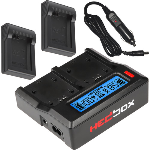 Hedbox RP-DC50 Digital LCD Dual Battery Charger Kit with RP-DFW50 Battery Plates