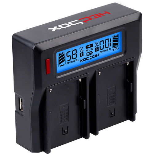 Hedbox RP-DC50 Dual Digital LCD Battery Charger