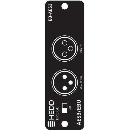 HEDD AES3 2-Channel Bridge Module for Select Studio Monitors