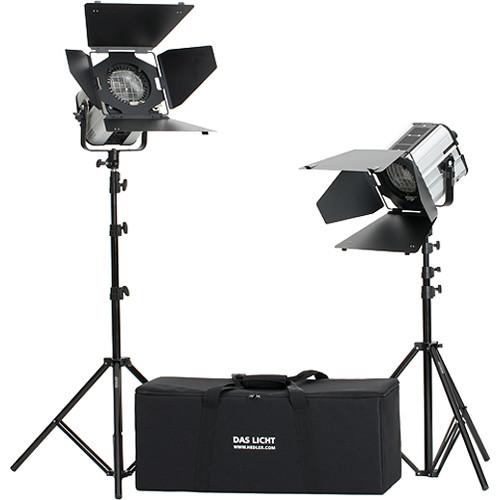 Hedler DF25 HMI Fresnel Brilliant 2-Light Kit