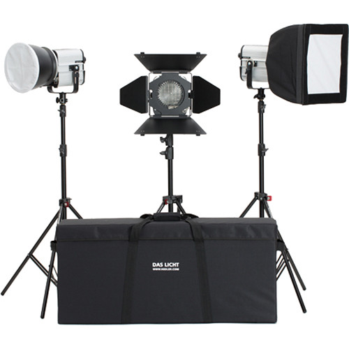Hedler DF25 HMI Fresnel Interview 3-Light Kit