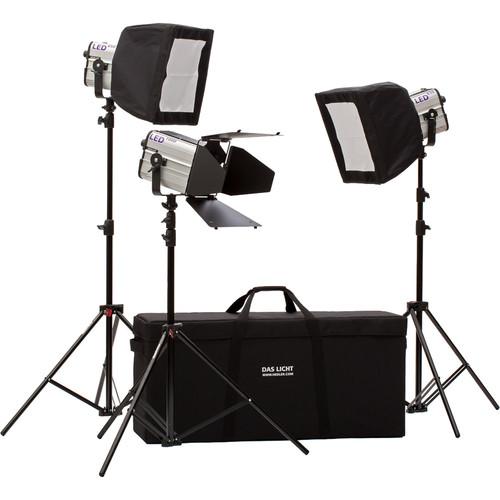 Hedler Profilux LED650/LED1000 3-Light Video Pro Kit