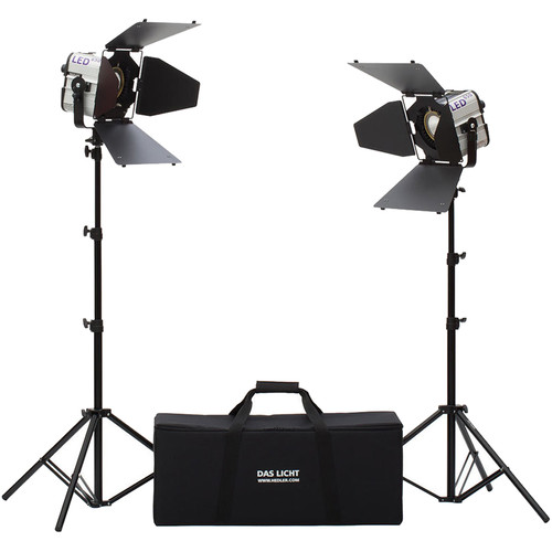 Hedler Profilux LED650 Daylight 2-Light Kit with Stands and Bag