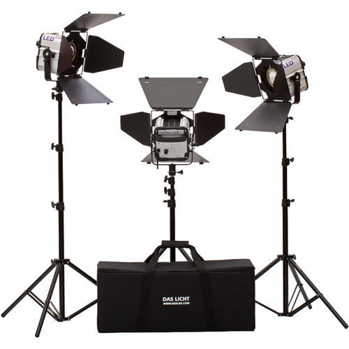 Hedler Profilux LED650 Daylight 3-Light Kit with Stands and Bag