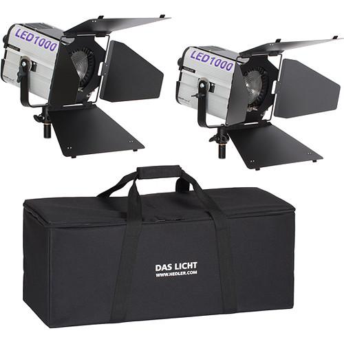 Hedler LED 1000 Twin Fresnel 2-Light Kit