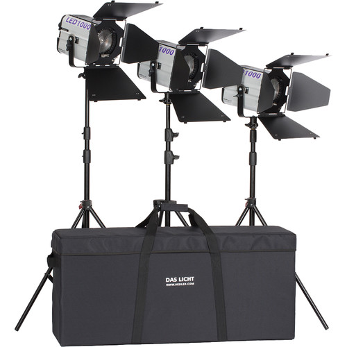 Hedler Profilux LED 1000/ 1000X Portrait 3-Light Kit