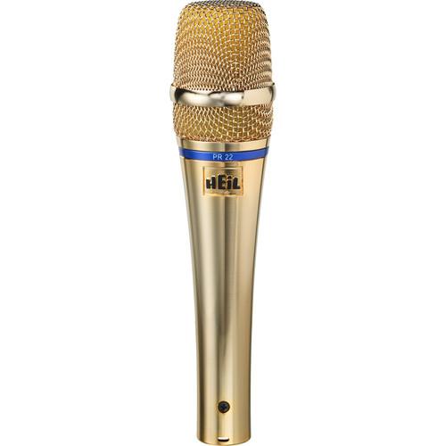 Heil Sound PR 22 Dynamic Cardioid Handheld Microphone (Gold)