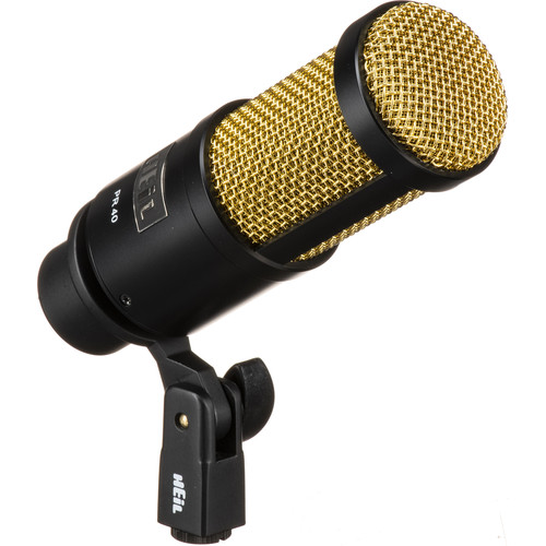 Heil Sound PR 40 Dynamic Cardioid Studio Microphone (Black with Gold Screen)
