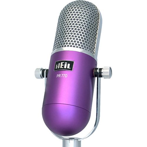 Heil Sound PR 77DP Large-Diaphragm Dynamic Microphone (Purple Body)