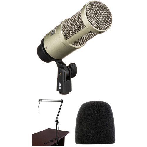 Heil Sound PR 40 Dynamic Cardioid Studio Microphone Kit with Shockmount, Broadcast Arm, and Windscreen