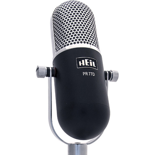 Heil Sound PR 77D Large-Diaphragm Dynamic Microphone (Black Body)