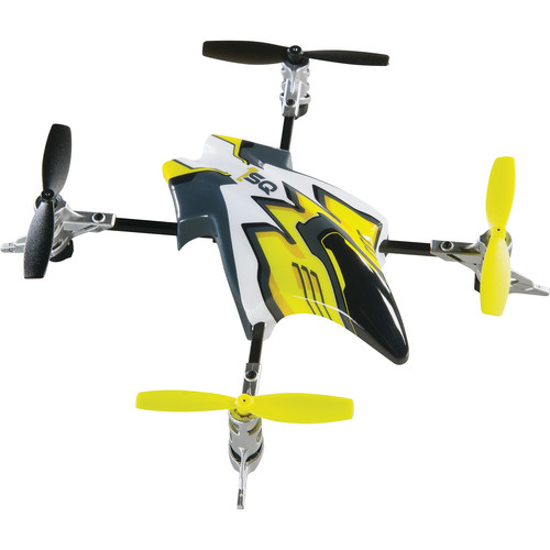 Heli Max Canopy Set with 4 Props for 1SQ and 1SQ V-Cam Quadcopters (Yellow)