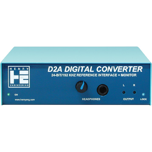 Henry Engineering D2A Digital Converter 24-bit/192 kHz Reference Interface and Monitor