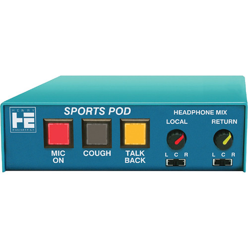Henry Engineering Sports Pod Microphone/Headphone Controller & Intercom System