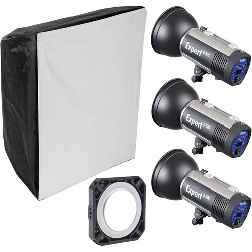Hensel Expert D1500 3-Light Kit with Chimera Softbox