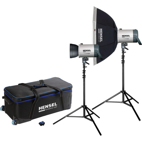 Hensel Integra Plus Octa Kit 1000 with 2 Stands/ Wheeled Case