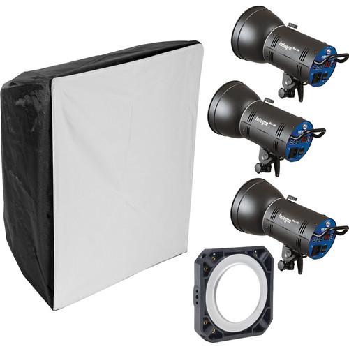 Hensel Integra Mini 900Ws 3-Light Kit with Chimera Softbox