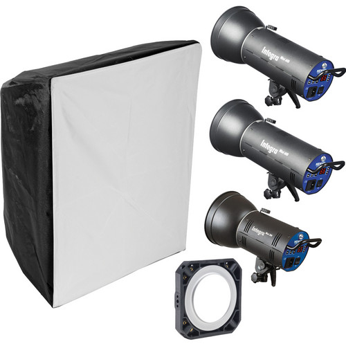 Hensel Integra Mini 1500Ws 3-Light Kit with Chimera Softbox