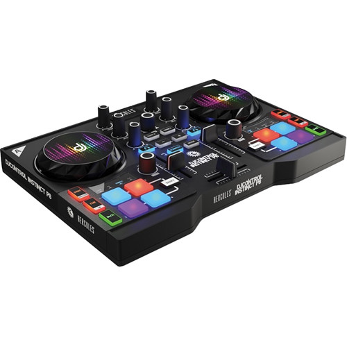 Hercules DJControl Instinct P8 Party Pack - DJ Controller and LED Wristband Lights