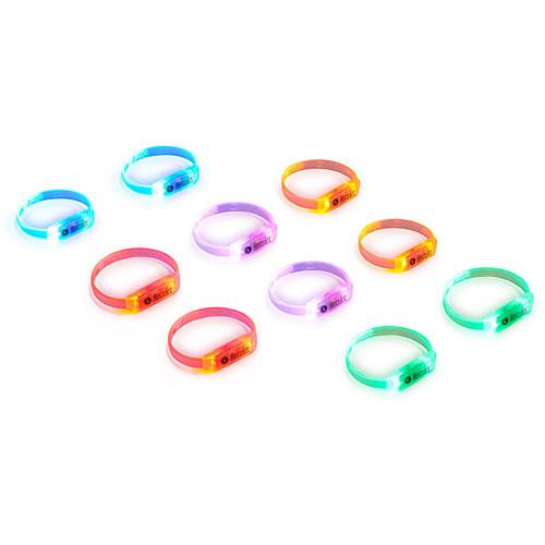 Hercules Sound-Reactive Multicolor LED Wristbands (10-Pack)