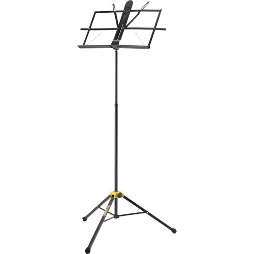 HERCULES Stands Two-Section EZ Glide Music Stand (Black)