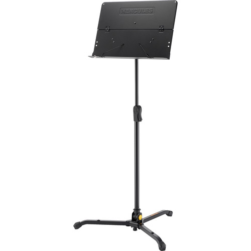 HERCULES Stands EZ Clutch Tripod Orchestra Stand with Foldable Desk