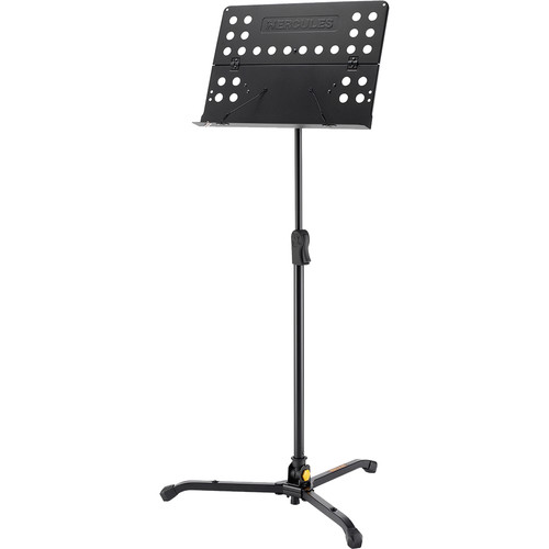 HERCULES Stands 75 to 90° Tilting Music Stand with Perforated Folding Desk