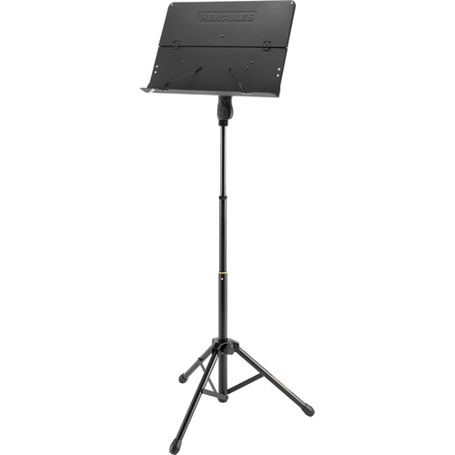 HERCULES Stands Three-Section Music Stand with Solid Folding Desk
