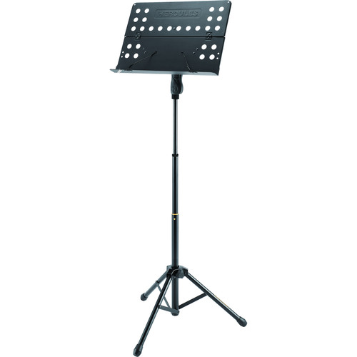 HERCULES Stands Three-Section Music Stand with Perforated Folding Desk
