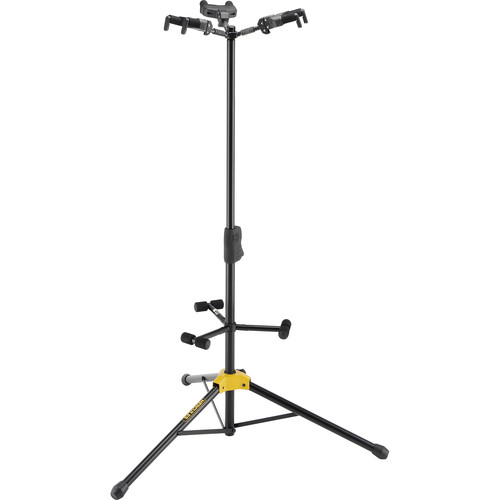 HERCULES Stands Auto-Grip Tri-Guitar Stand with Backrests
