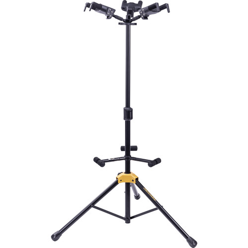 HERCULES Stands Plus Series Universal Autogrip Triple Guitar Stand With Foldable Backrest