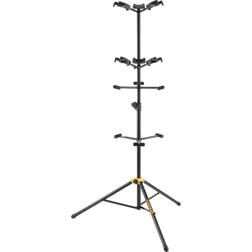 HERCULES Stands Auto-Grip Six-Guitar Stand with Backrests