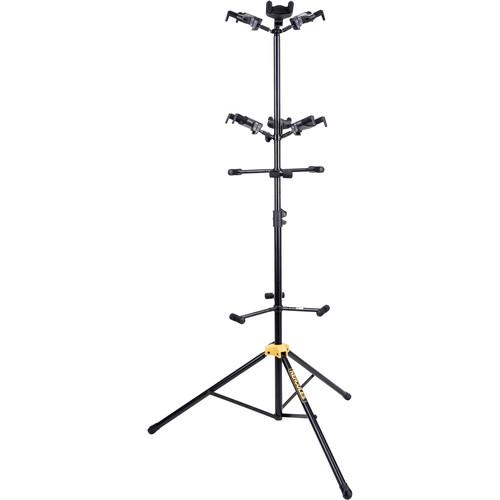 HERCULES Stands Plus Series Universal 6-Piece Guitar Autogrip Display Stand