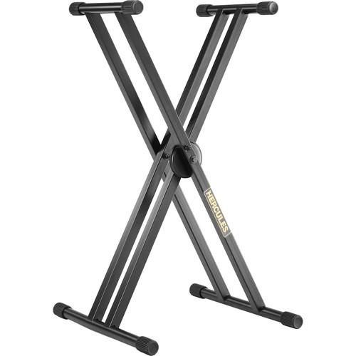 HERCULES Stands EZ-Lok Double-X Keyboard Stand