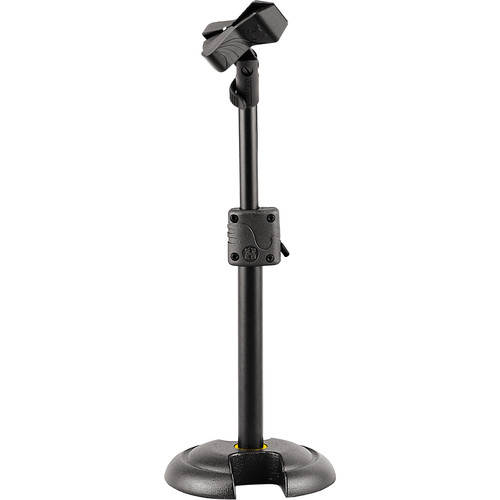HERCULES Stands MS100B H-Base Microphone Stand with EZ Mic Clip