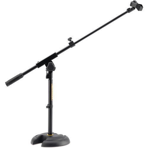 HERCULES Stands H-Base Microphone Stand with Telescopic Boom & EZ Clip