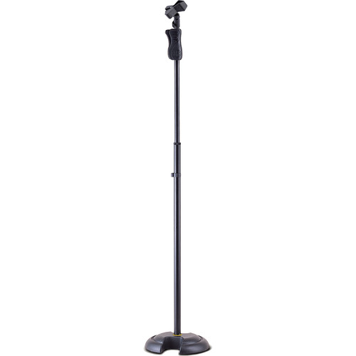 HERCULES Stands MS201B EZ Grip H-Base Microphone Stand with EZ Mic Clip