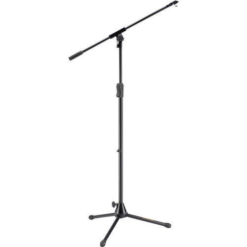 HERCULES Stands EZ Clutch Tripod Microphone Stand with Boom & EZ Mic Clip