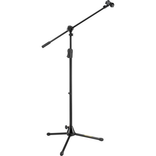HERCULES Stands EZ Clutch Tripod Microphone Stand with 2-in-1 Boom