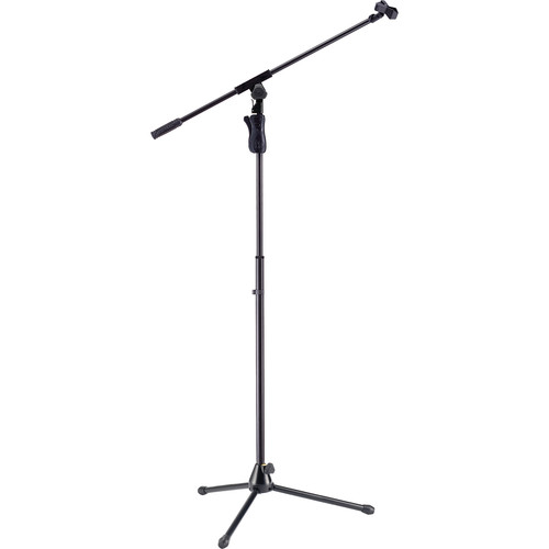 HERCULES Stands EZ Grip Tripod Microphone Stand with Boom and EZ Microphone Clip
