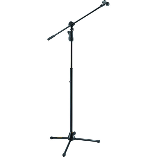 HERCULES Stands EZ Grip Tripod Microphone Stand with 2-in-1 Boom
