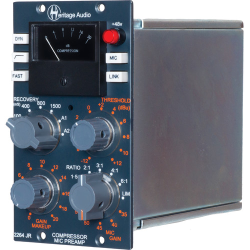 Heritage Audio 2264JR 500 Series Compressor and Microphone Preamplifier
