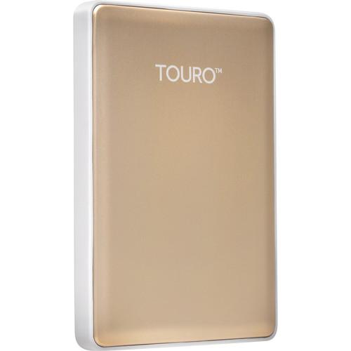HGST 1TB Touro S Ultra-Portable External Hard Drive (Gold)