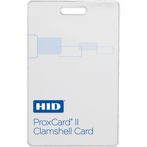 HID ProxCard II 125 kHz RF-Programmable Proximity Access Card (Matte Finish, Vertical Slot Punch)
