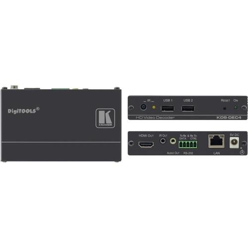 Kramer KDS-DEC4 H.264 Video Streamer & Decoder