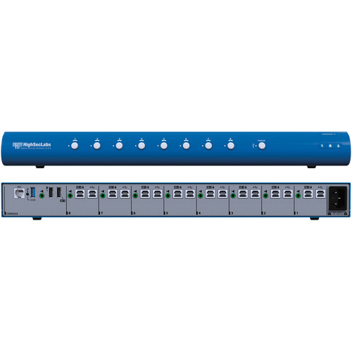 High Sec Labs SM80NU-3 Secure 8-Port KM Switch with fUSB Ports