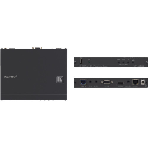 Kramer HDMI HDCP 2.2 Receiver/Scaler with Ethernet, RS-232, IR & Stereo Audio over Extended-Reach HDBaseT