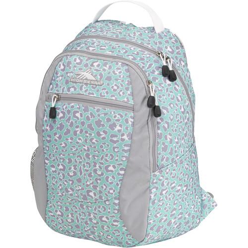 High Sierra Curve Backpack (Mint Leopard/Ash/White)