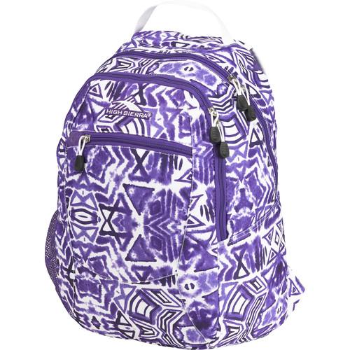 High Sierra Curve Backpack (Shibori/Deep Purple/White)