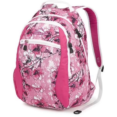 High Sierra Curve Backpack (Summer Bloom / Fuchsia / White)